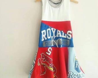 St. Louis Cardinals, Kansas City Royals, House Divided, girls dress, size 6/7