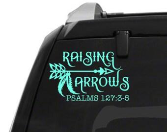Raising arrows car decal - christian car decal - raising arrows bumper sticker