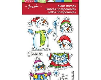 Stampendous WINTER STACK SNOWMAN Clear Stamp set by Stampendous Ssc1249 Snowmen fall from heaven unassembled cc22