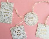 Gold Foil Gift Tag Sets