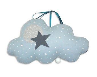 Mobile Musical Nuage Jules Ciel – Pétrole - Boite à musique - Une étoile dans ma cabane