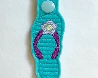 Keychain - flip flop - sandle - zipper pull - key fob