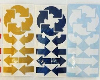 190 Arrows Shapes Self-adhesive