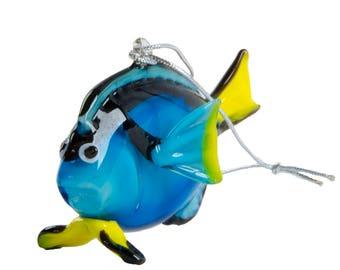 Blue Tang Fish Ornament