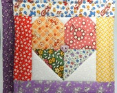 Large Patchwork Heart Pot Holders - Set of Two - Valentine's Day