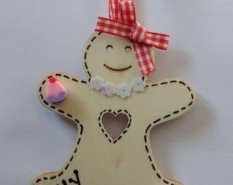 Handmade Wooden Gingerbread Man