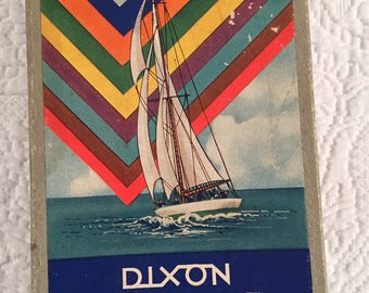 Vintage box of colored pencils - great graphics on box