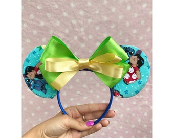 Lilo and Stitch Inspired Minnie Mouse Ears Headband