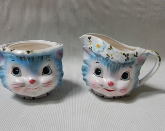 Miss Priss Sugar and Creamer Set by Lefton