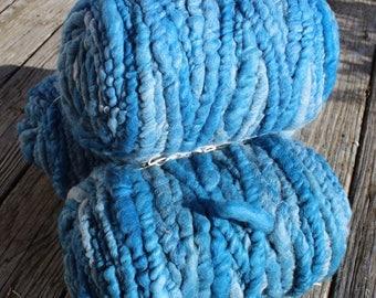 100% suri PEACOCK BLUE core spun rug yarn