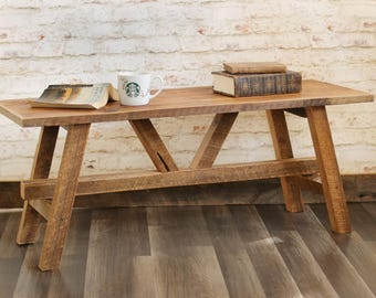 Barn Wood Coffee Table U2013 Reclaimed Wood Furniture U2013 Living Room U2013 Rustic  Décor Accent Part 63