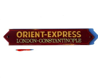 Hand Painted Orient Express sign