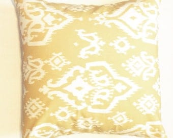 """Yellow aztec Pillow Cover 18""""x18"""""""
