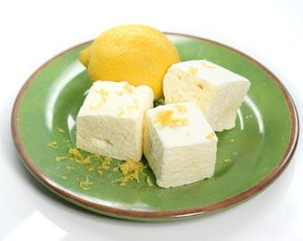 Lemon Marshmallows - 1 dozen Gourmet homemade marshmallows