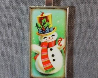 Holiday Pendant - Snowman & Mistletoe