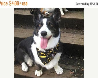 ON SALE Tie-on Dog Bandana in BATMAN - XSmall/Small/Medium/Large/XLarge