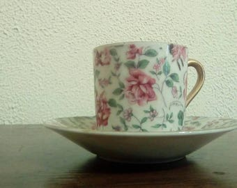 Inarco Floral Ceramic Cup and Saucer | Roses Decor