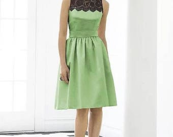 After Six Bridesmaid Dress Green Apple Size 10