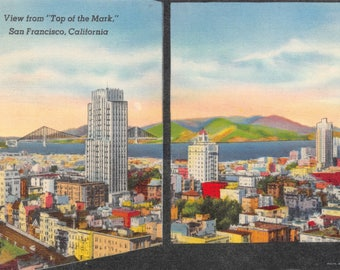Vintage Postcard View from Top of the Mark San Francisco Cali Postmarked 1948