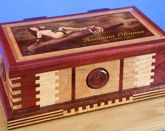 Blunt Sized Rolling Machine Cigar Case Custom Hand Made