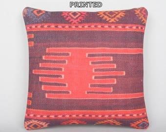 kilim pillow anatolian rustic pillow chair pillow cover turkish pillow case boho chic throw pillow turkish pillow sham floor cushion 272-40
