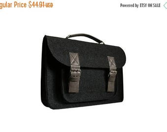 Christmasinjuly Limited Edition Laptop bag 13 in, felt satchel, macbook pro, macbook air 13 inch sleeve, case, bag with leather strap b