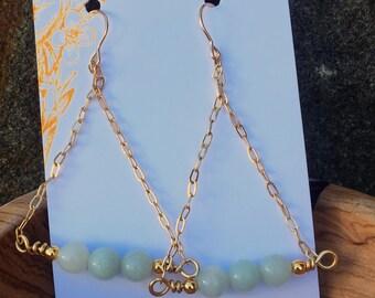New Jade Dangle w/Chain