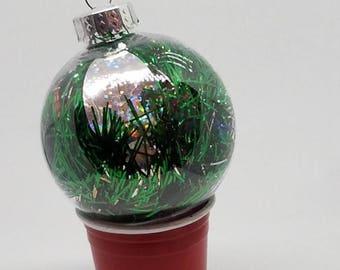 Christmas lights tinsel ornament
