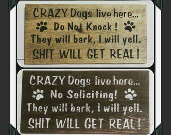 Beware Of Dog Sign Etsy