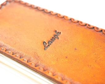 Custom iPhone 8 Case | Leather | Inspirational Script