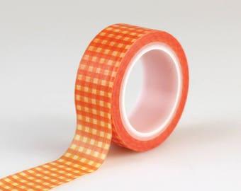 Echo Park Paper Co. Decorative Tape - Orange Gingham