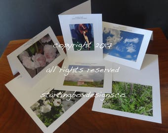 Artisan Photographic Note Cards-6 Pack individual sleeves, envelopes
