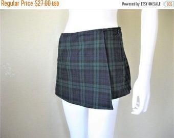 ON SALE Plaid Wrap Skort Mini Skirt + shorts