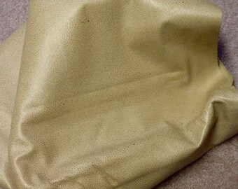A75 Leather Cow Hide Cowhide Upholstery Craft Fabric Embossed Sand Tan 47 sq ft