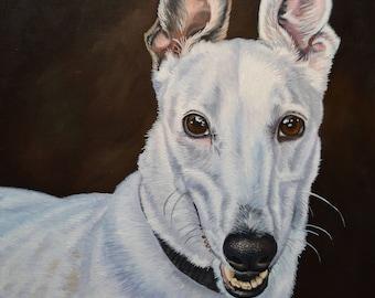 Custom Pet Portrait Oil Painting on Canvas 11x14