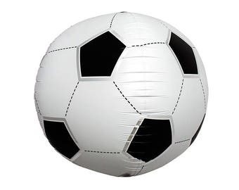 XL Soccer Ball 17 Inch Foil Mylar Round 3D Balloon