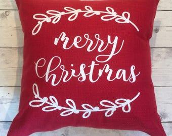 Merry Christmas pillow cover 18x18, christmas decor