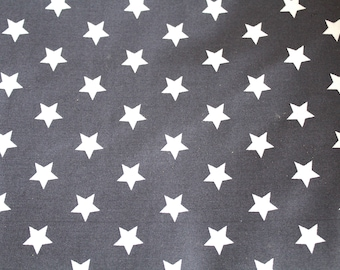 Laminated cotton fabric 50 x 70 cm stars