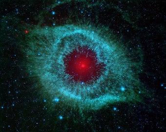 Helix Nebula via NASA's Spitzer Space Telescope