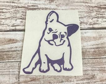 Frenchie Bulldog Animal Vinyl Decal Car Laptop Wine Glass Sticker