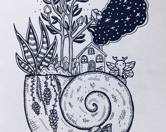 Elf living on a shell