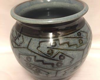 Nicolas Hillyard Slipware / Earthenware Studio Pottery Vase - Axminster, Devon