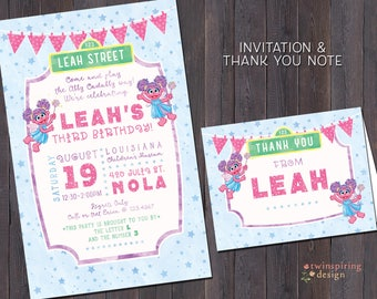 Abby Cadabby Birthday Invitations and/or Thank You Notes with Envelopes