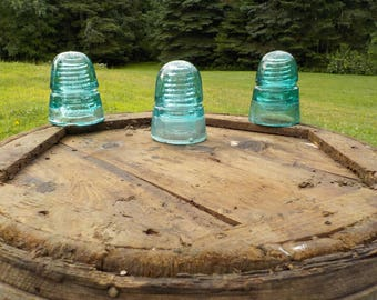 Beehive glass insulators