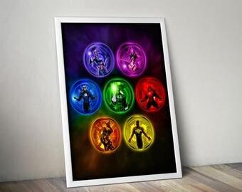 Lantern Corps - Full Spectrum (18x24)