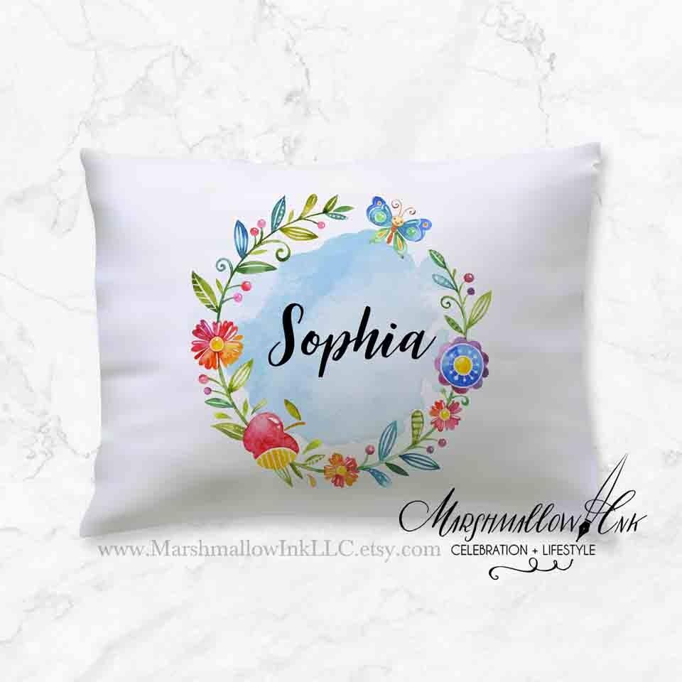 Sorority Pillow Case Ideas: Graduation Gift Ideas Pillowcase Girl Pillow Case Bridesmaid,
