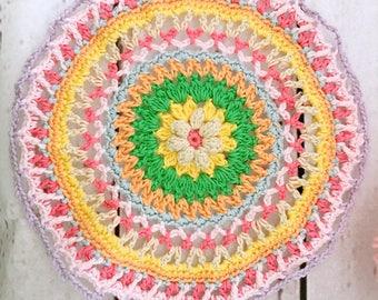 Eye-catching mandala, crochet mandala, crochet home decor, vintage crochet, doily