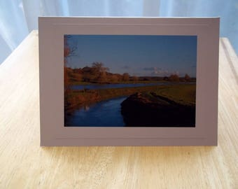 Greeting Card - Glastonbury Tor from the River Brue