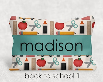 Personalized Pencil Pouch - Back to School - Personalized Gift - Teacher