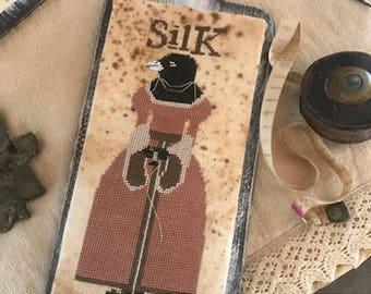 Pattern: Cross Stitch - Miss Sarah Sue Silk - Primitive Hare